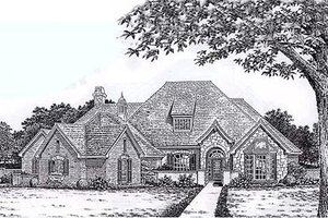 European Exterior - Front Elevation Plan #310-865