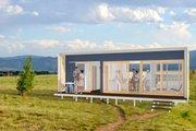 Modern Style House Plan - 1 Beds 1 Baths 261 Sq/Ft Plan #897-1