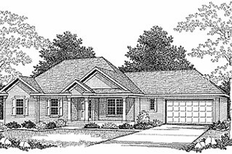 Traditional Exterior - Front Elevation Plan #70-101 - Houseplans.com