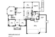 Traditional Style House Plan - 4 Beds 3.5 Baths 3074 Sq/Ft Plan #320-487 Floor Plan - Main Floor Plan