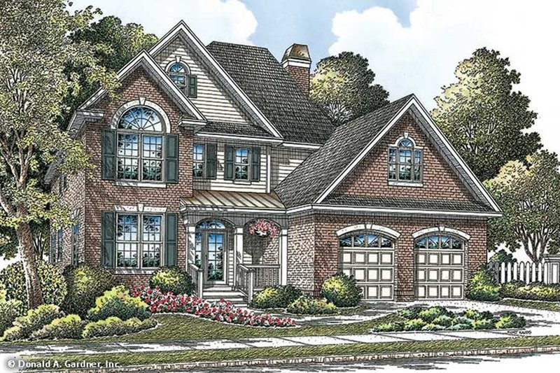 Traditional Exterior - Front Elevation Plan #929-45 - Houseplans.com