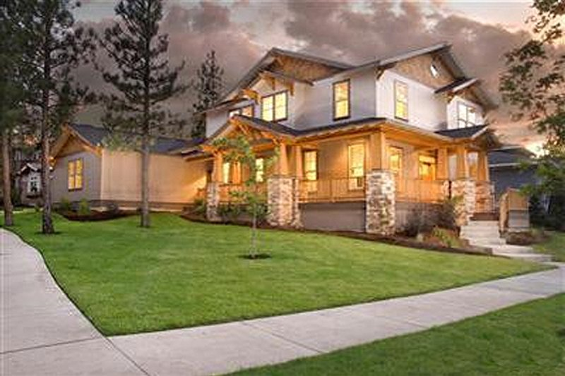 Craftsman Style House Plan - 3 Beds 2.5 Baths 2403 Sq/Ft Plan #509-27 Exterior - Front Elevation