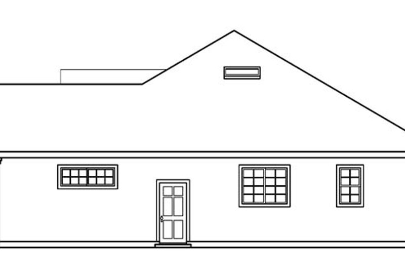 Ranch Exterior - Other Elevation Plan #124-487 - Houseplans.com