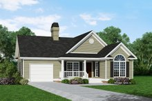 Architectural House Design - Ranch Exterior - Front Elevation Plan #929-234