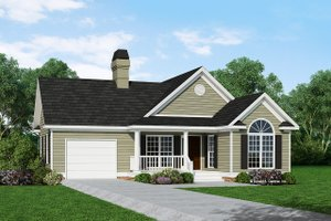 House Plan Design - Ranch Exterior - Front Elevation Plan #929-234