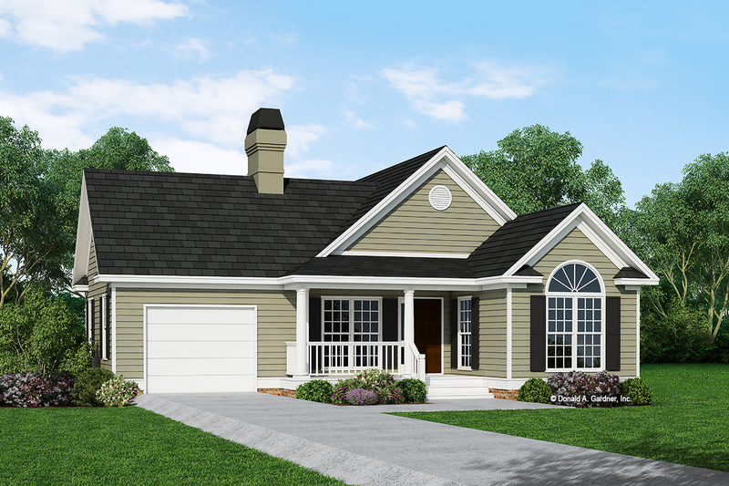 Ranch Style House Plan - 2 Beds 2 Baths 1109 Sq/Ft Plan #929-234 Exterior - Front Elevation