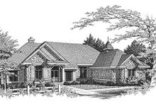 Dream House Plan - European Exterior - Front Elevation Plan #70-463