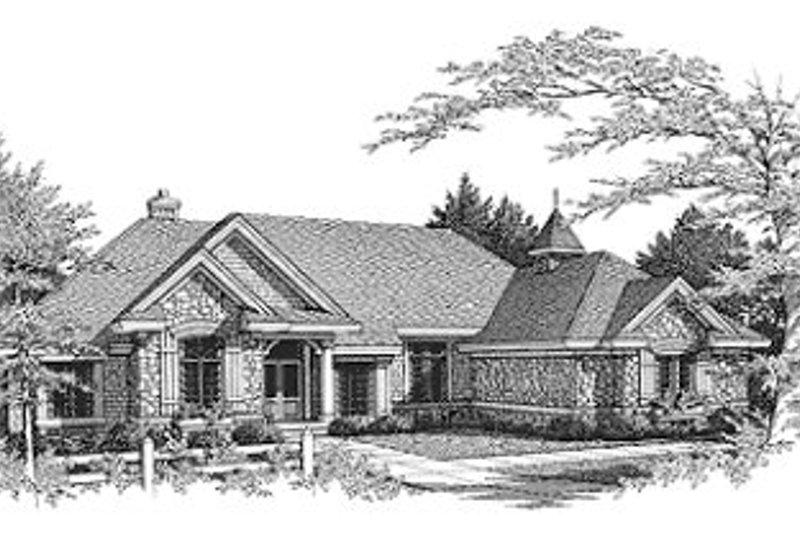 European Exterior - Front Elevation Plan #70-463