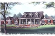 Southern Style House Plan - 4 Beds 3.5 Baths 3723 Sq/Ft Plan #15-261 Exterior - Front Elevation