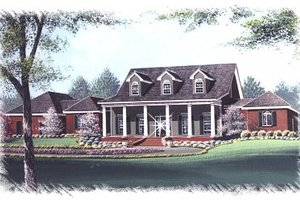 Southern Exterior - Front Elevation Plan #15-261