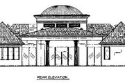 Classical Style House Plan - 3 Beds 3.5 Baths 3489 Sq/Ft Plan #119-259 Exterior - Rear Elevation