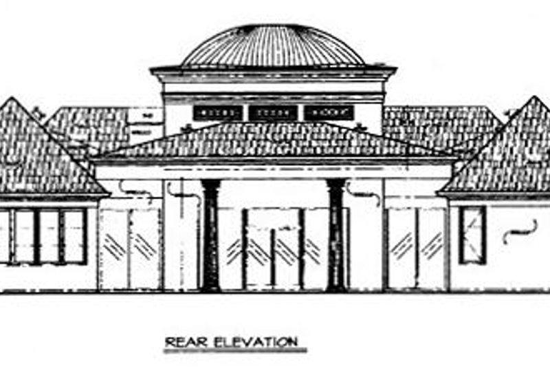 Classical Exterior - Rear Elevation Plan #119-259 - Houseplans.com