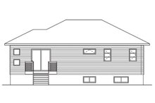House Plan Design - Ranch Exterior - Rear Elevation Plan #23-2617
