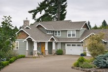 Dream House Plan - Front View - 3150 square foot craftsman home