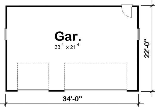 Traditional Floor Plan - Main Floor Plan Plan #20-2376