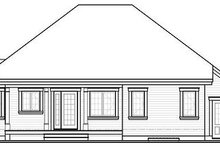 Home Plan - Traditional Exterior - Rear Elevation Plan #23-794