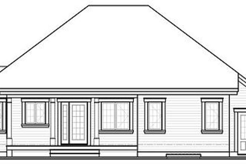 Traditional Exterior - Rear Elevation Plan #23-794 - Houseplans.com