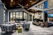 Contemporary Style House Plan - 5 Beds 5.5 Baths 7466 Sq/Ft Plan #930-513 Exterior - Covered Porch