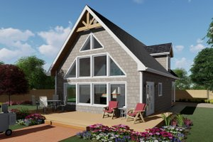 House Plan Design - Cabin Exterior - Front Elevation Plan #126-188
