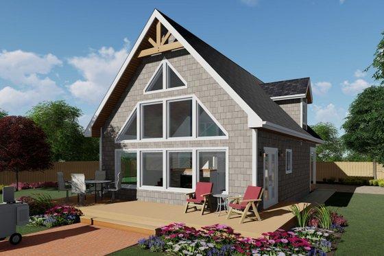 Cabin Exterior - Front Elevation Plan #126-188