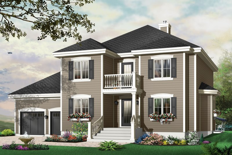 Traditional Exterior - Front Elevation Plan #23-809