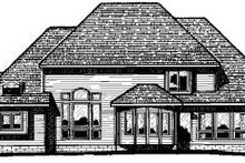 European Exterior - Rear Elevation Plan #20-1144