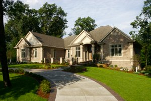 Front View - 7000 square foot Traditional home