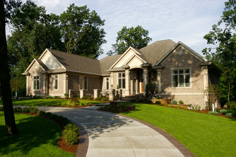 Dream House Plan - Front View - 7000 square foot Traditional home