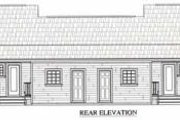 Ranch Style House Plan - 1 Beds 1 Baths 1200 Sq/Ft Plan #21-128 Exterior - Rear Elevation