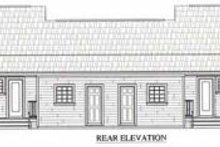 Dream House Plan - Ranch Exterior - Rear Elevation Plan #21-128