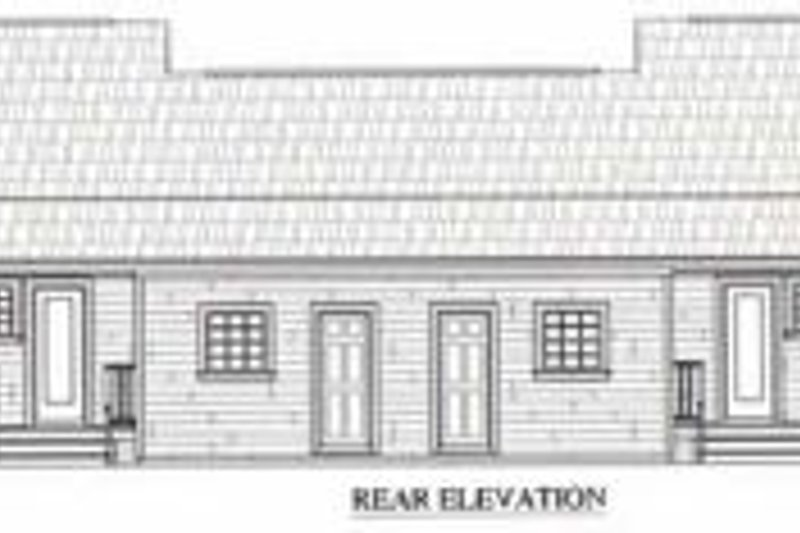 Ranch Exterior - Rear Elevation Plan #21-128 - Houseplans.com
