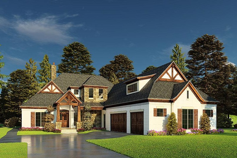Dream House Plan - Craftsman Exterior - Front Elevation Plan #923-171