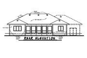 European Style House Plan - 2 Beds 2 Baths 1436 Sq/Ft Plan #20-2068 Exterior - Rear Elevation