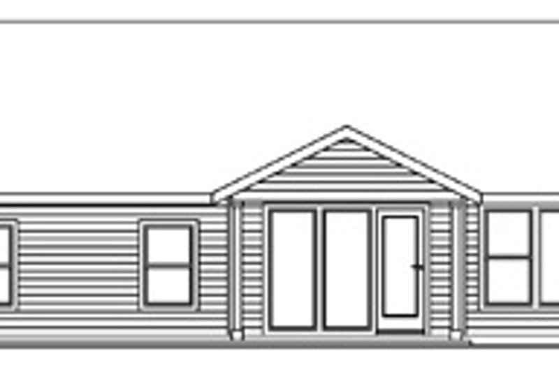 Traditional Exterior - Rear Elevation Plan #124-597 - Houseplans.com