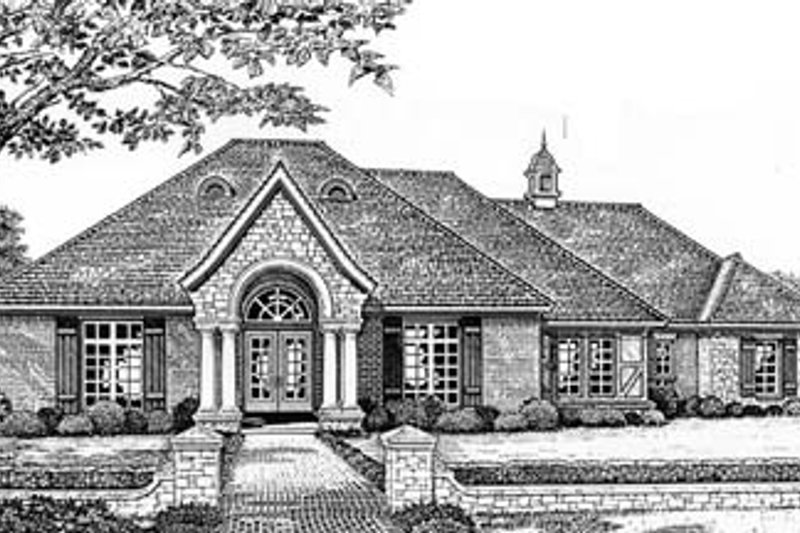 Colonial Style House Plan - 4 Beds 3.5 Baths 2625 Sq/Ft Plan #310-542 Exterior - Front Elevation