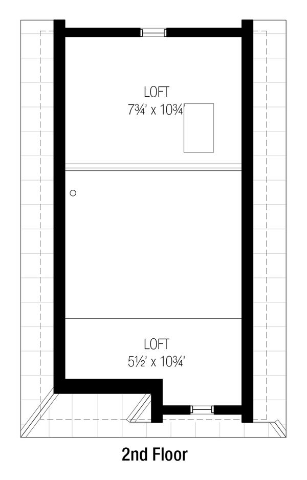 Cottage Floor Plan - Upper Floor Plan #915-7