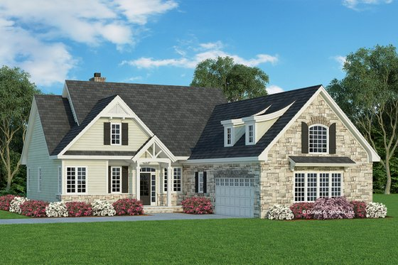 Craftsman Exterior - Front Elevation Plan #929-609