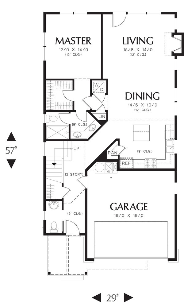Craftsman Floor Plan - Main Floor Plan Plan #48-552