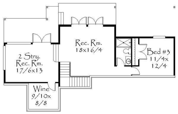 Prairie Floor Plan - Lower Floor Plan Plan #509-63