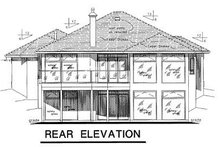 House Blueprint - European Exterior - Rear Elevation Plan #18-148