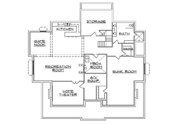Victorian Floor Plan - Lower Floor Plan #5-441