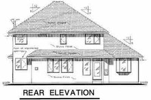 European Exterior - Rear Elevation Plan #18-295