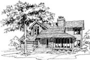 Modern Style House Plan - 3 Beds 2.5 Baths 1351 Sq/Ft Plan #320-126 Exterior - Front Elevation