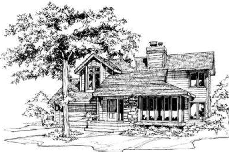 Modern Exterior - Front Elevation Plan #320-126
