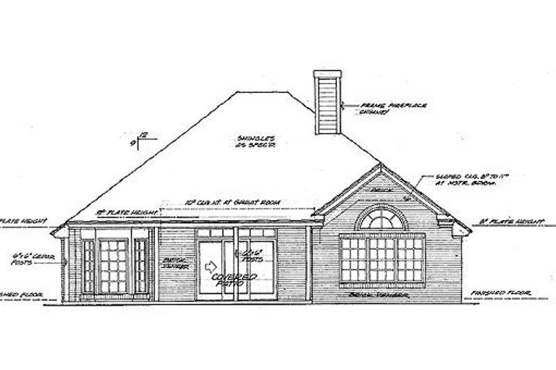 European Exterior - Rear Elevation Plan #310-755 - Houseplans.com