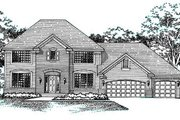 European Style House Plan - 4 Beds 2.5 Baths 2300 Sq/Ft Plan #51-113 Exterior - Front Elevation