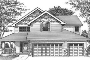 Bungalow Exterior - Front Elevation Plan #53-240
