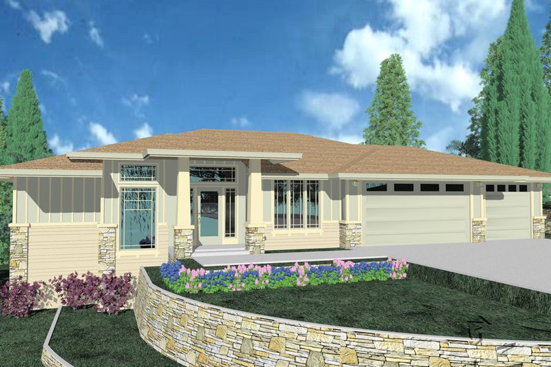 Exterior - Front Elevation Plan #509-67