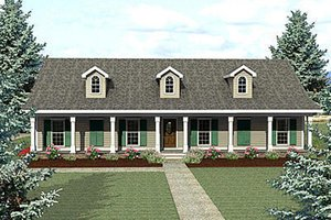 Architectural House Design - Country Exterior - Front Elevation Plan #44-123