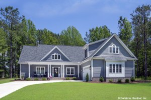 Architectural House Design - Country Exterior - Front Elevation Plan #929-670